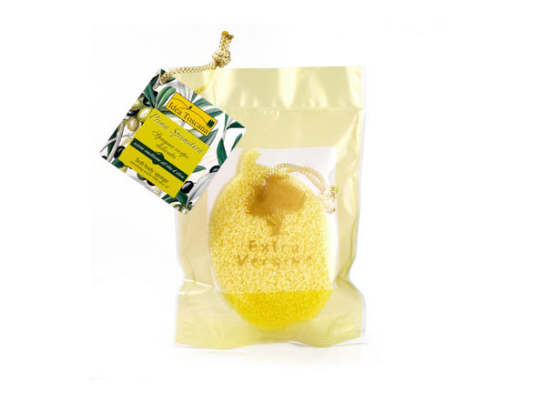 Ultra Soft Body sponge with Organic Toscano PGI Extra Virgin Olive Oi
