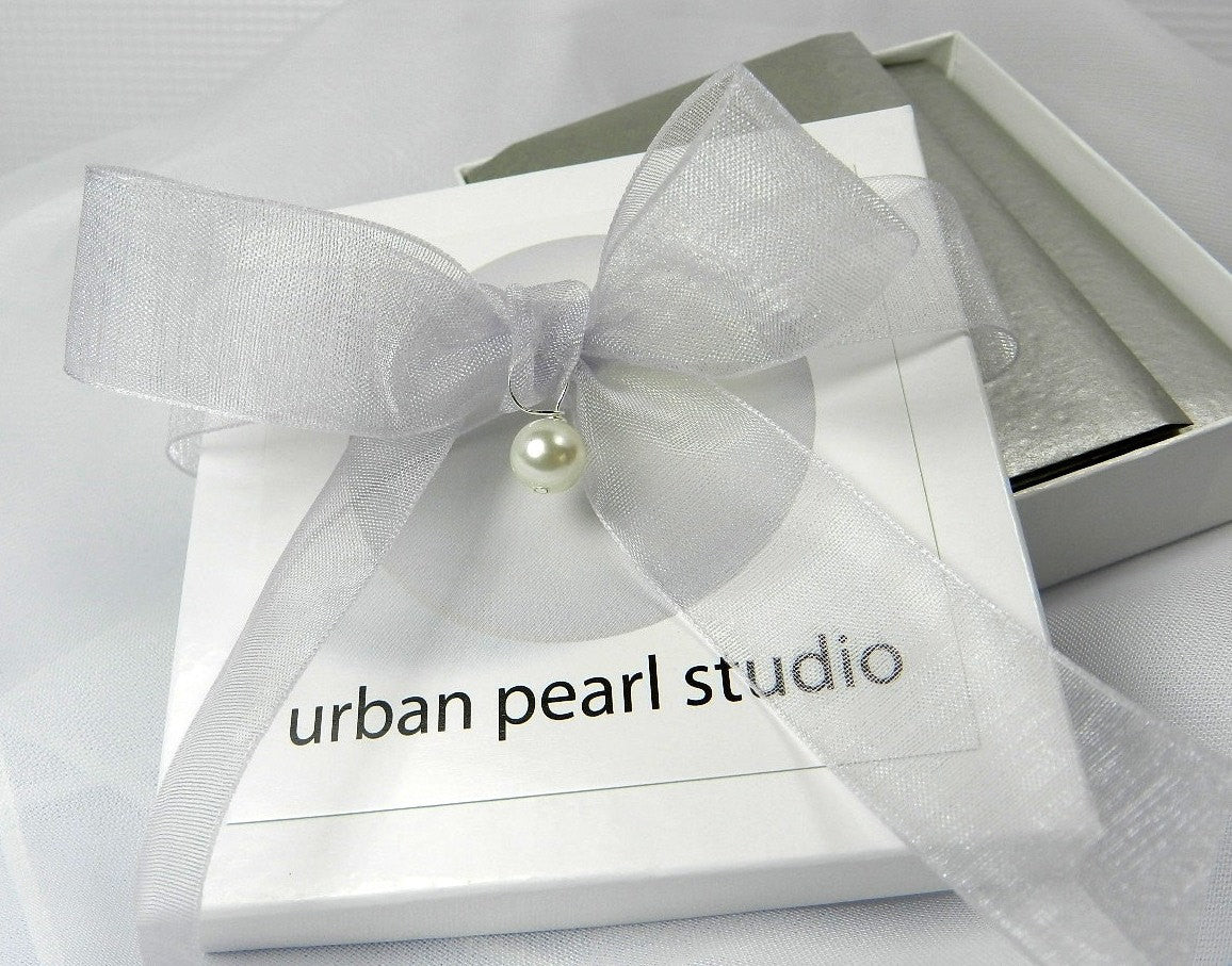 Modern Baroque Pearl Necklace - Organic Natural Freshwater Pearls Biwa Stick Pearl Necklace