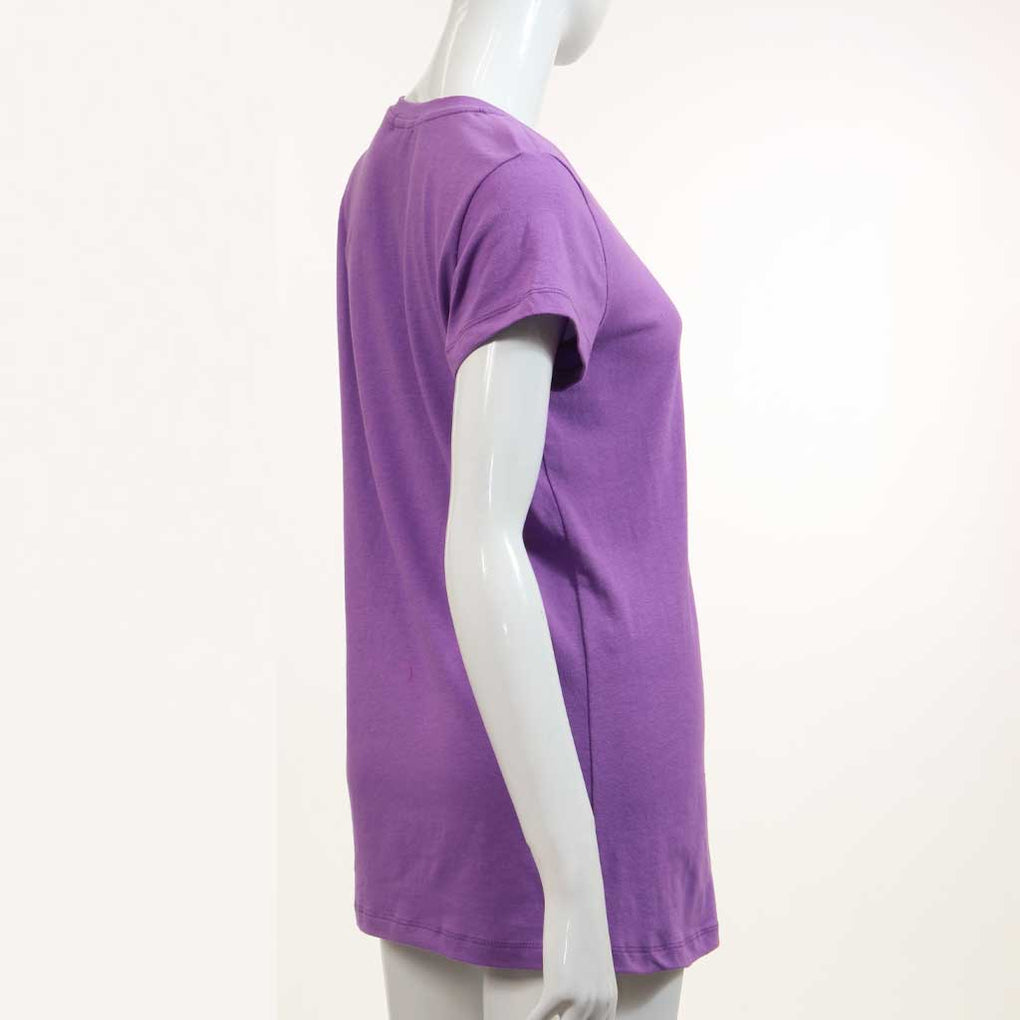 Crew Neck Cap Sleeve Top