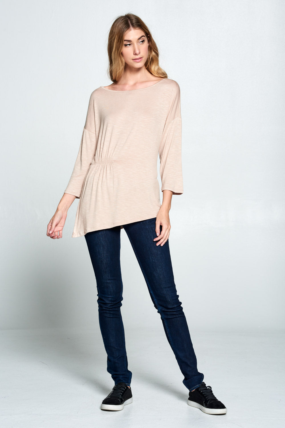 3/4 Sleeve Asymm. Top