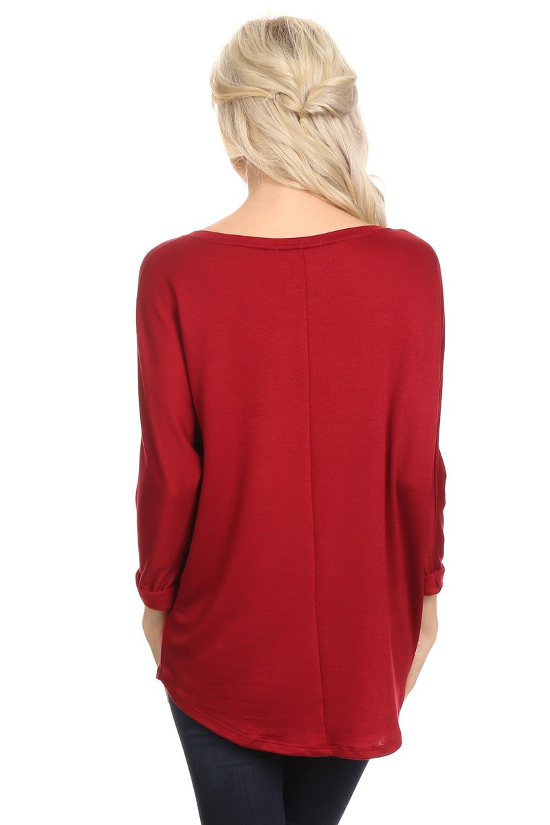 V-Neck Dolman Tunic