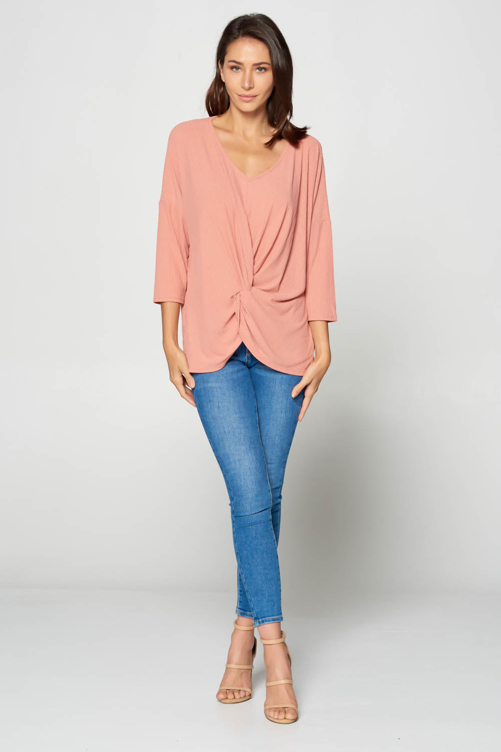 3/4 Sleeve Oversize Dolman Top
