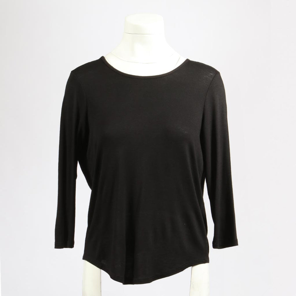 Round Neck Drapey Back Top