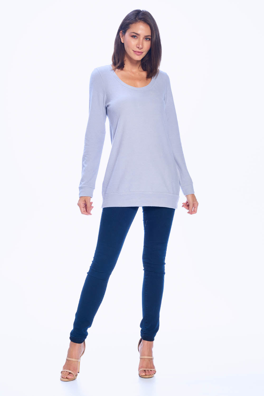 Scoop Neck Banded Tunic Top