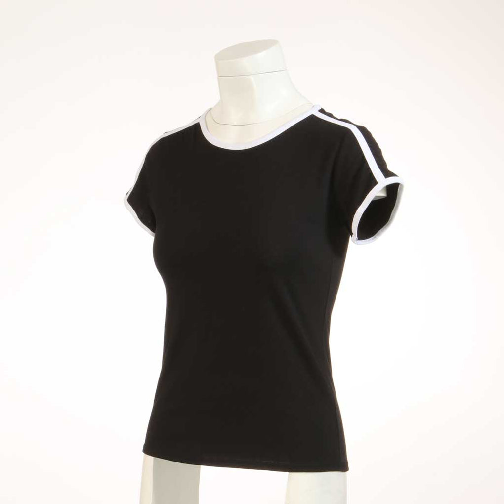Round Neck Contrast Binding Top