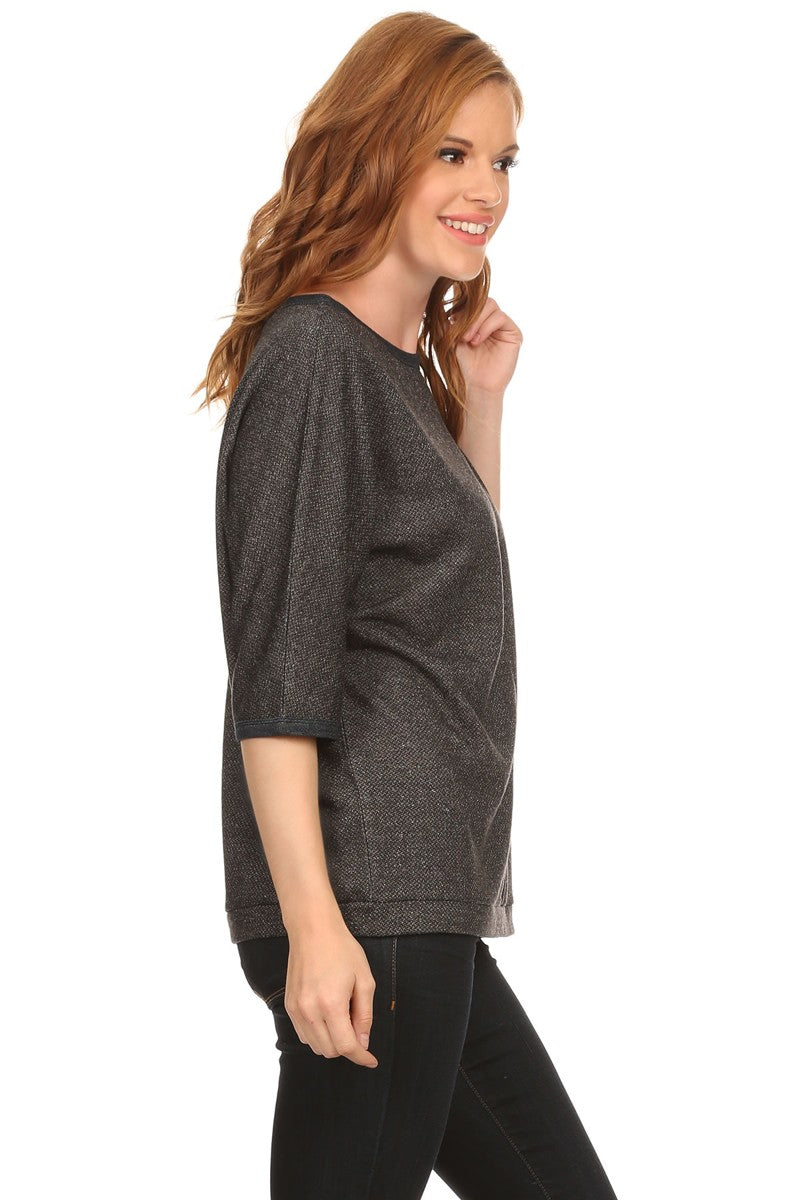 3/4 Sleeve Top, tops, tresics, tresics