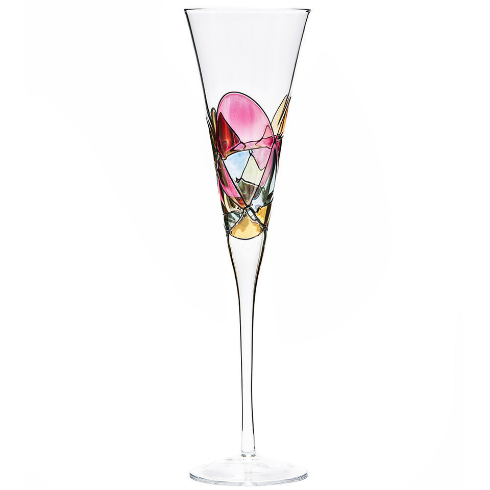 'SAGRADA' Red Line, 7oz Champagne Flutes