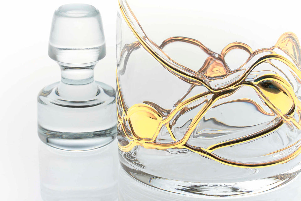 GOLD LINE, 55Oz Whiskey Decanter