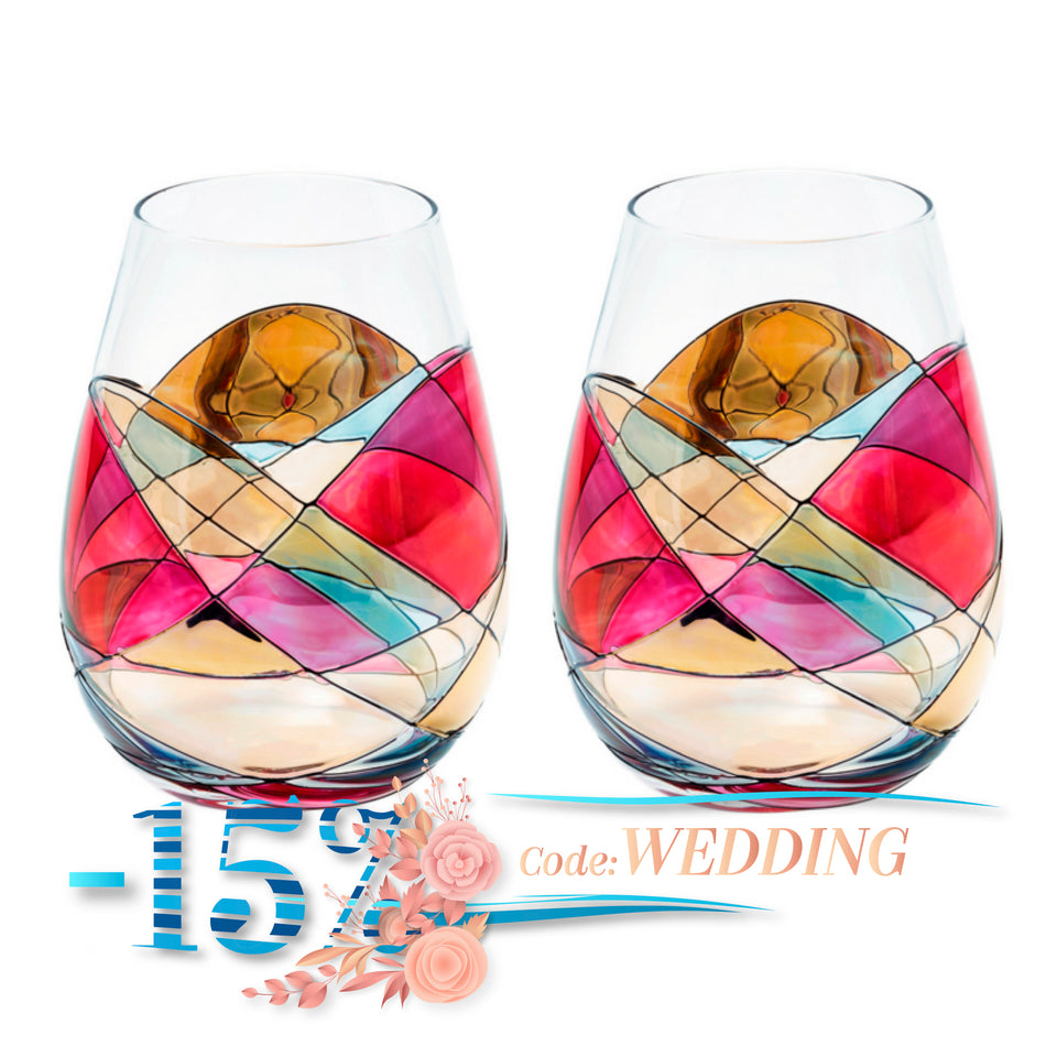 'SAGRADA' Stemless 23oz Wine Glasses