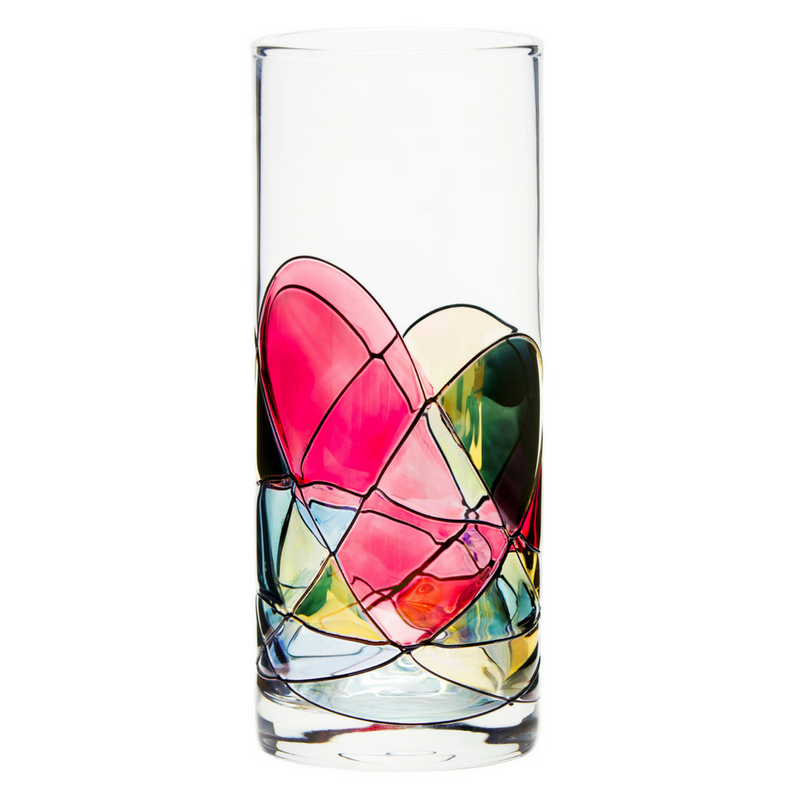 'SAGRADA' Red Line, 15oz Highball Glasses