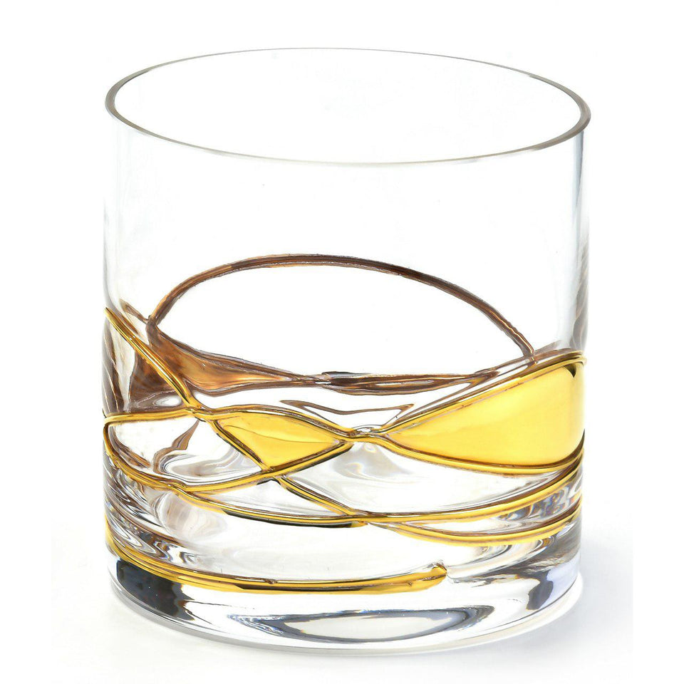 'BARCELONA NIGHT' Gold Line, 12oz Whiskey Glass