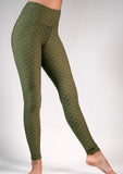 Leggings Textured M34 Olive Green