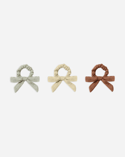 little bow scrunchie - set of 3