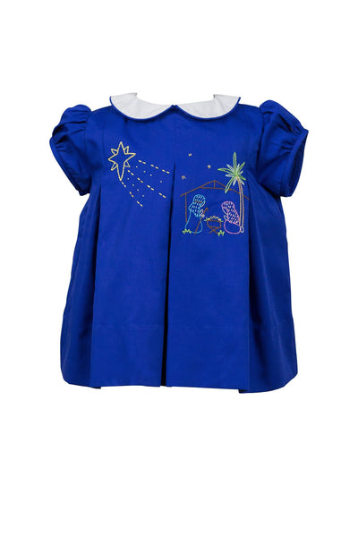 Navy Nativity Dress
