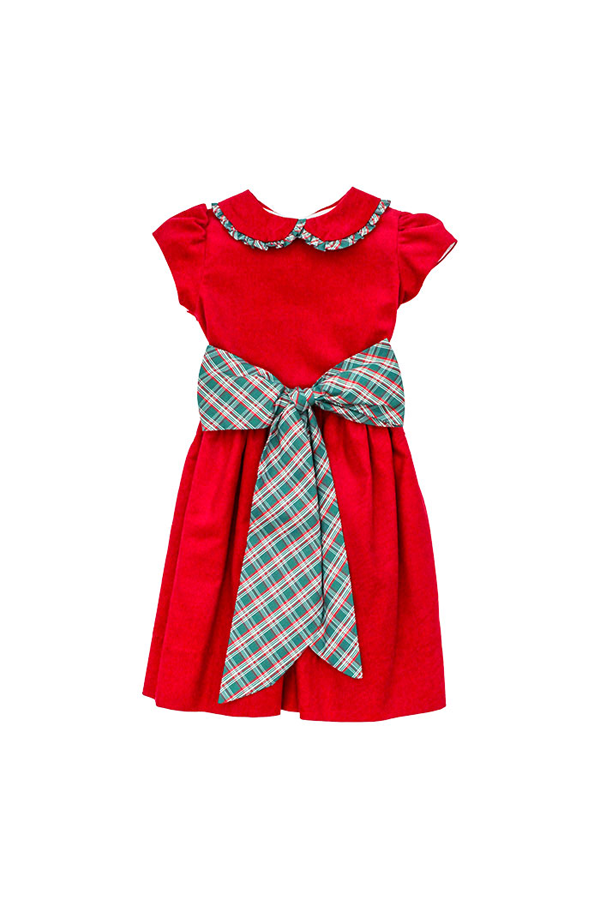Holly Plaid Empire Dress