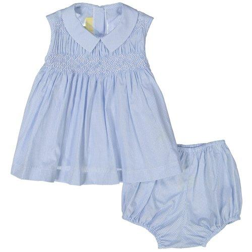 Blue Gingham Smock and Bloomer