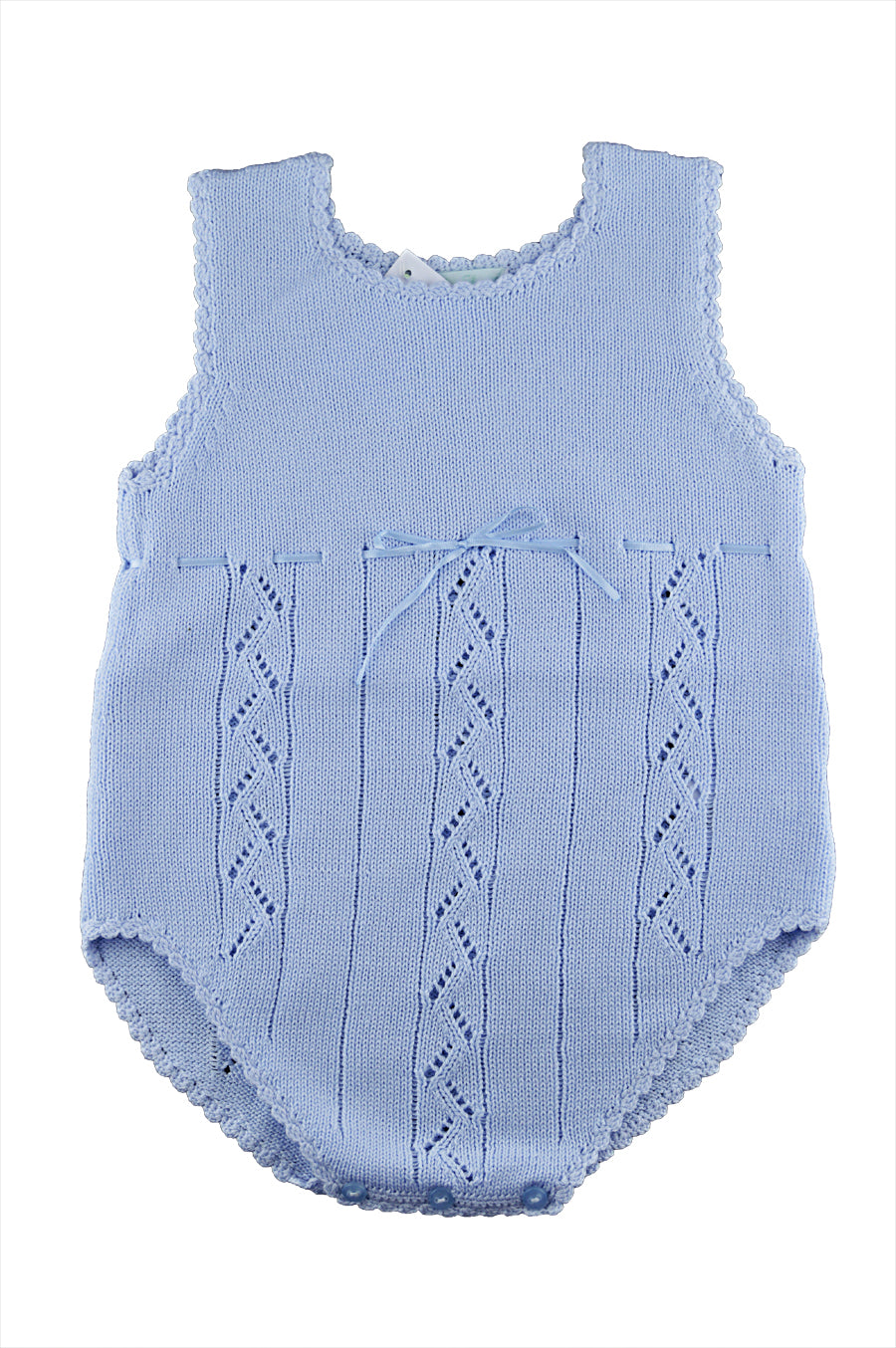 Blue Knitted Romper