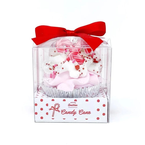 Large Candy Cane Cupcake Bath Bomb