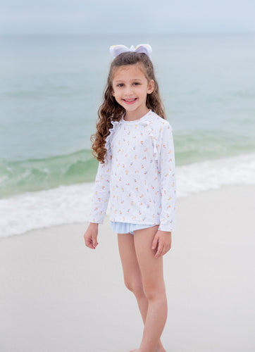 Charlotte Rash Guard Set-Sailboats