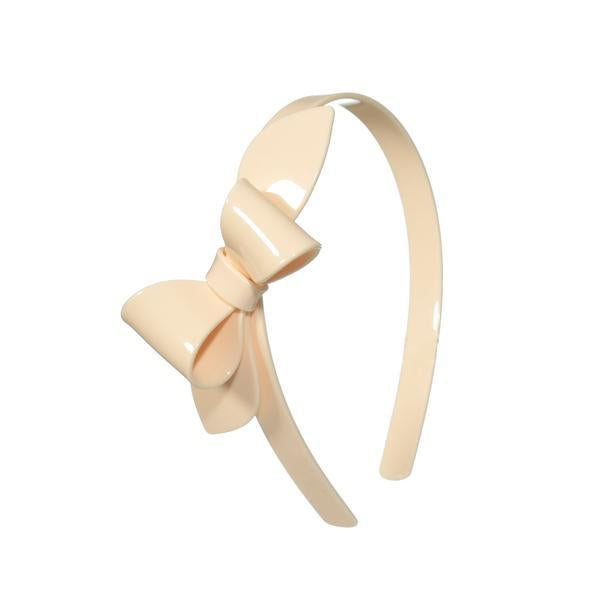 Rosane Bow Headband-Cream