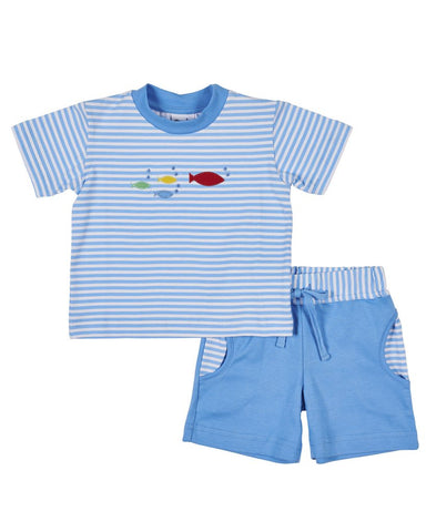 Stripe Shirt w/ Fish & Short