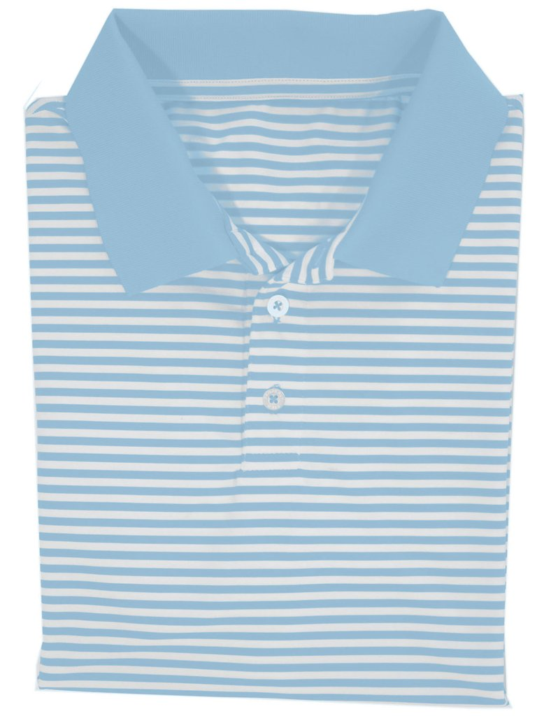 Lil Ducklings Gameday Polo Powder Blue-Short Sleeve