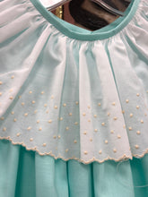 Mint Dress w Embroidered Dot Collar