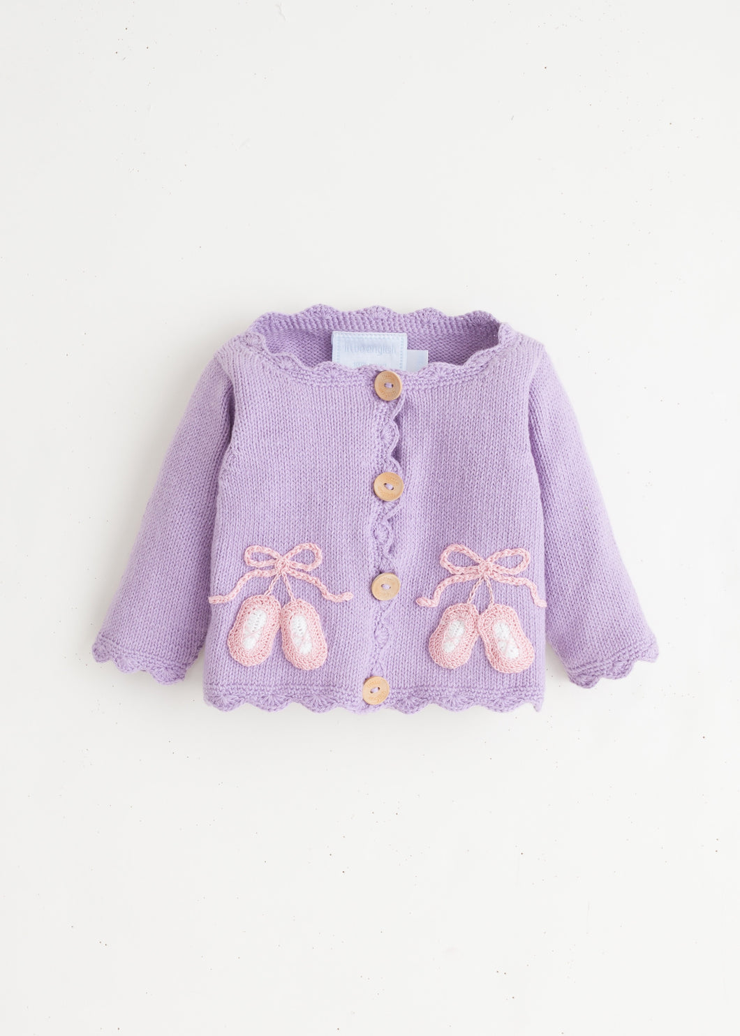 Ballet Slippers Crochet Sweater
