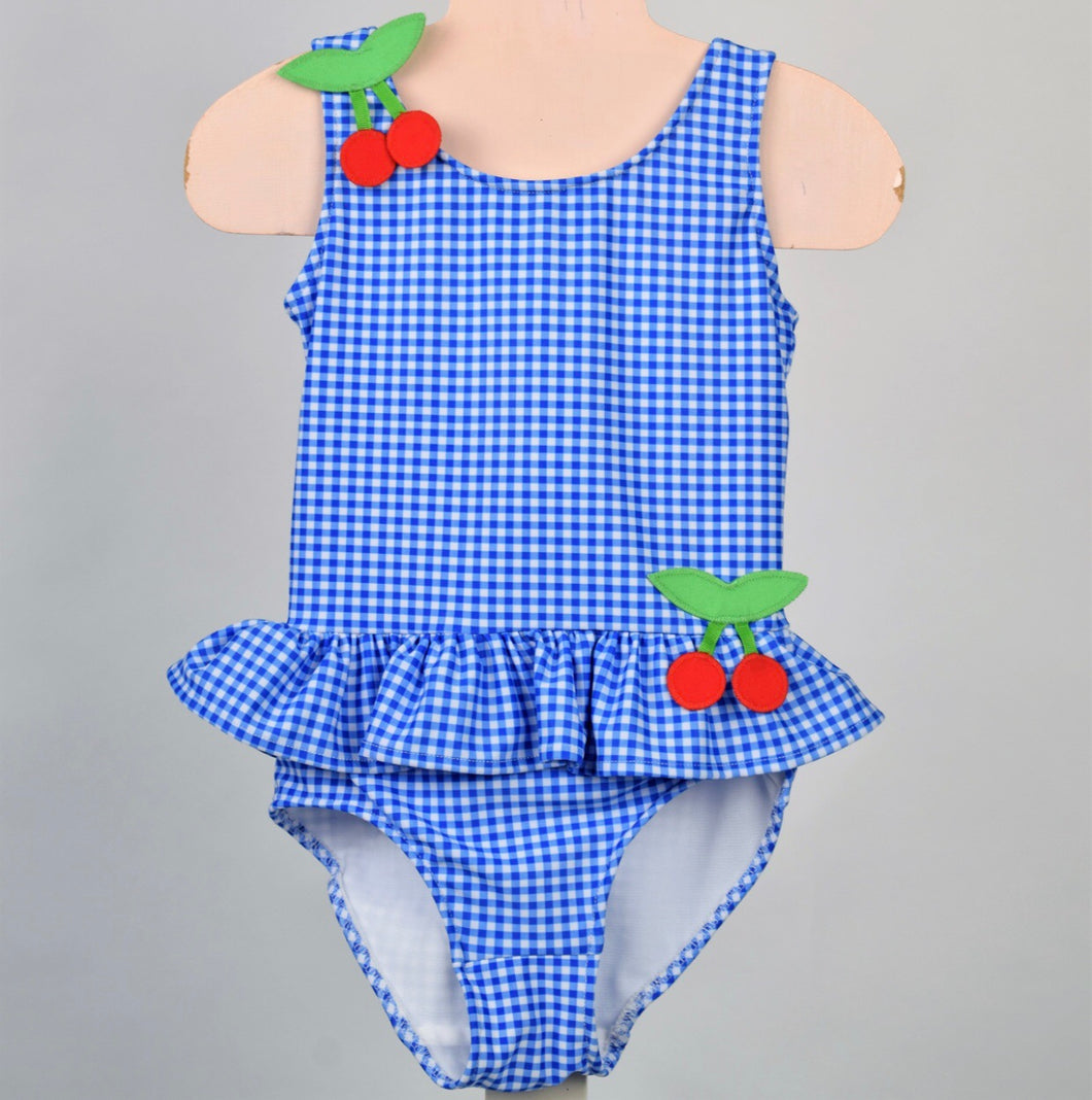 Cherries Ruffle Swimsuit