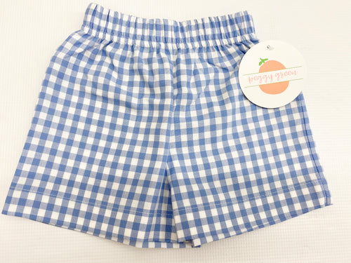 Periwinkle Gingham Retro Shorts