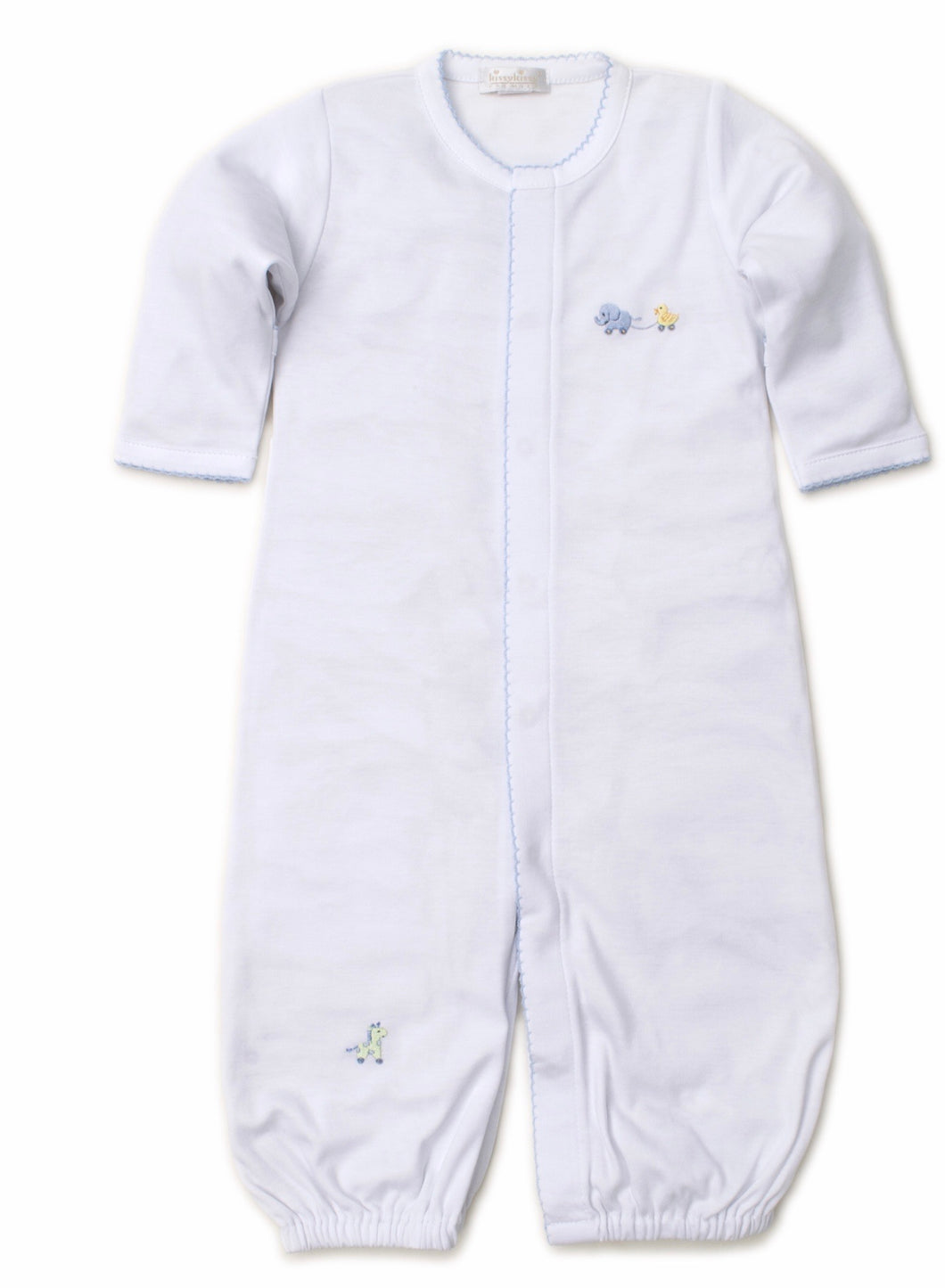White/Blue Pull Toys Converter Gown