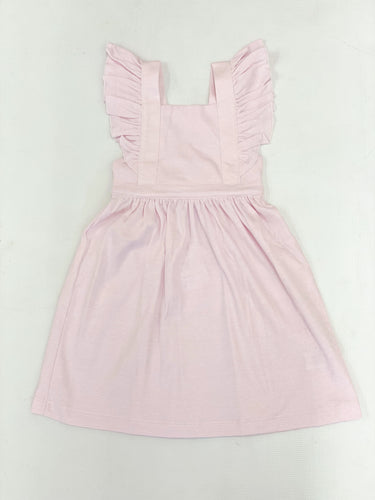 Pink Stripe Pinafore Dress