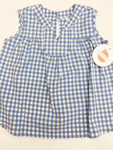 Periwinkle Gingham Evy Top