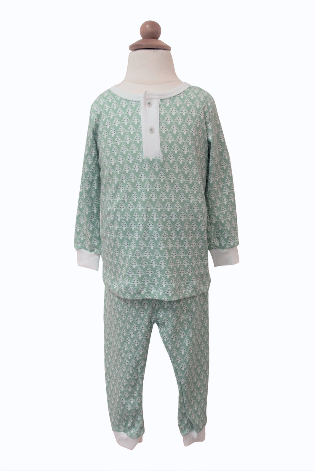 Green Mod Trees Pajama Set