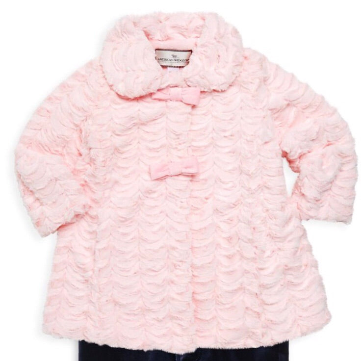 2 Bow Scallop Pink Coat
