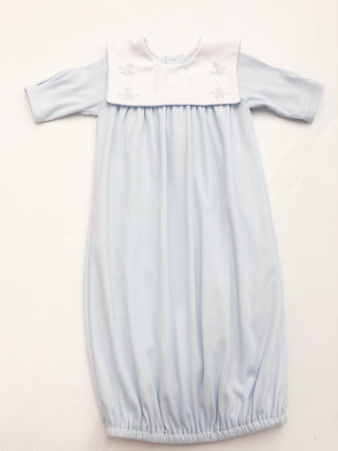 Blue Plane Knit Gown