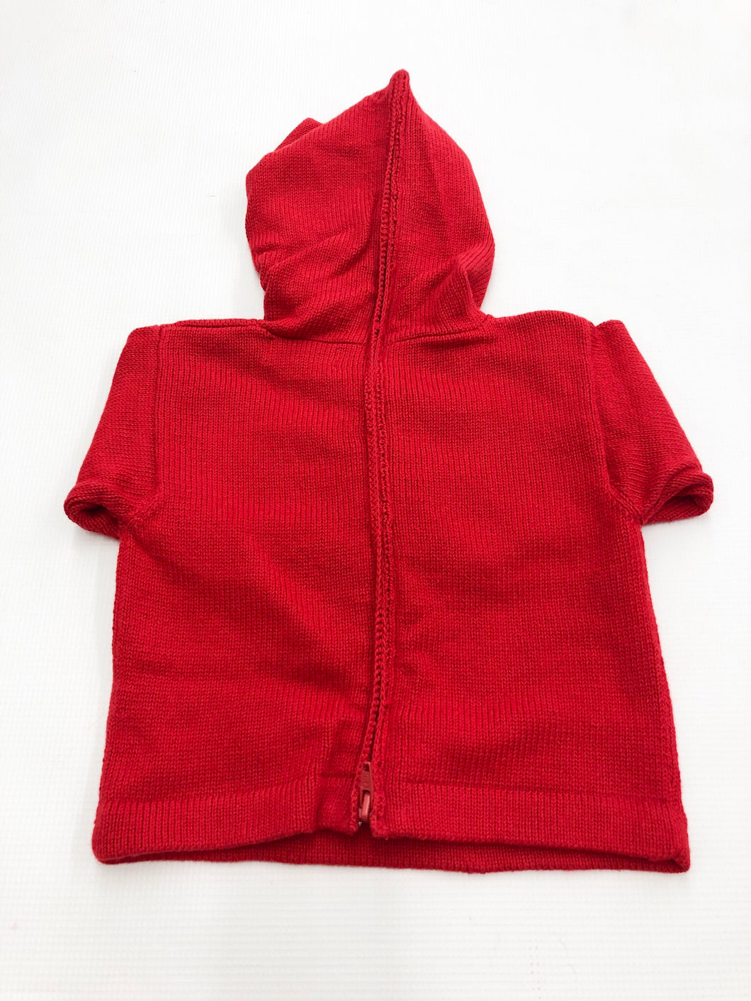 Deep Red Zip-Back Hoodie