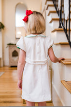 White Cord Noel Embroidery Dress