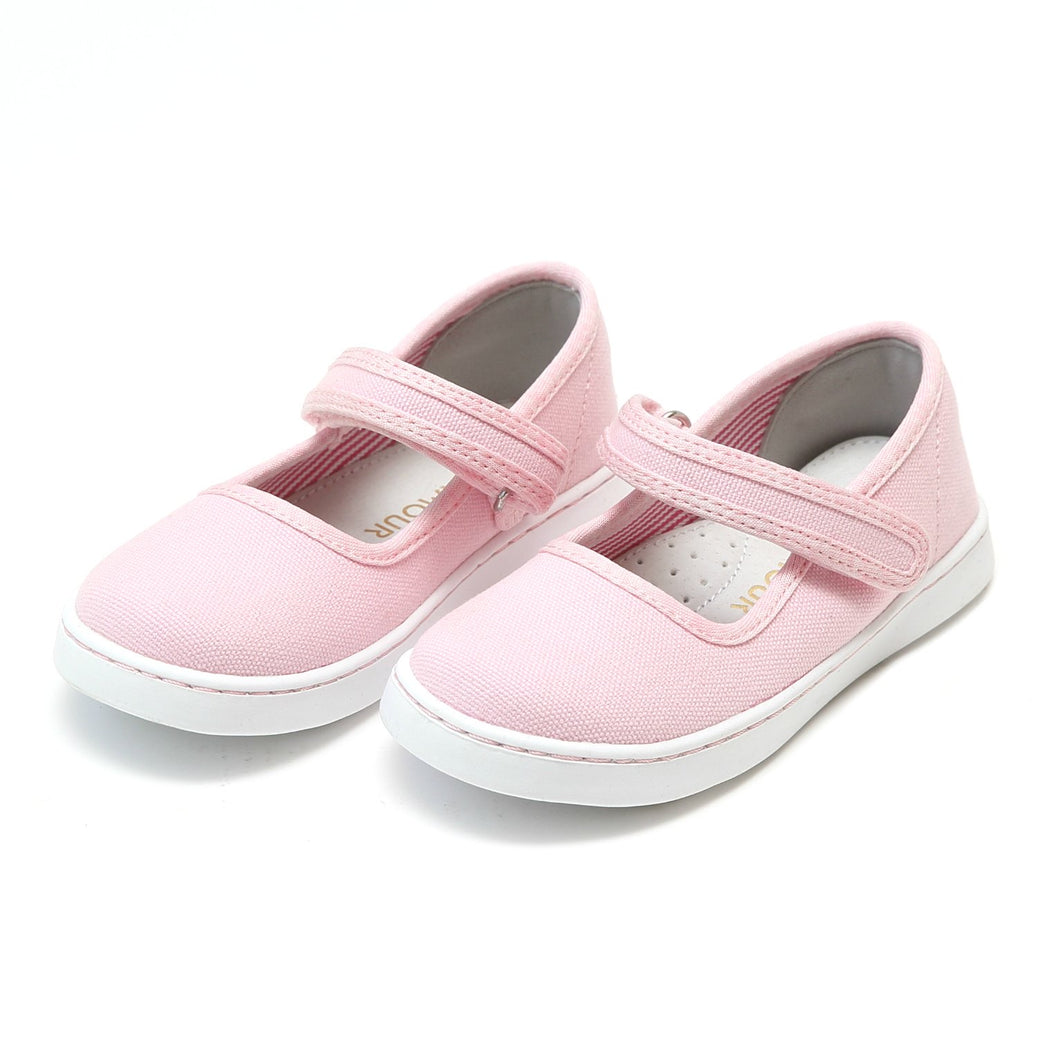 Jenna - Canvas Ankle Mary Jane  - Pink