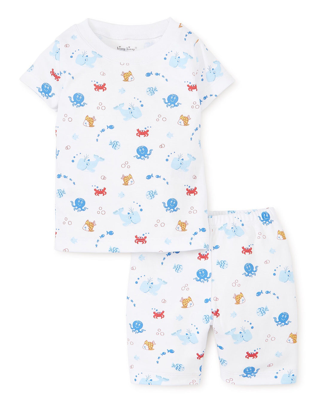 Under The Sea Blue Short PJ Set