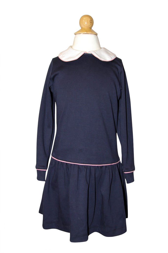 Navy w/ Hot Pink Longsleeve Dress