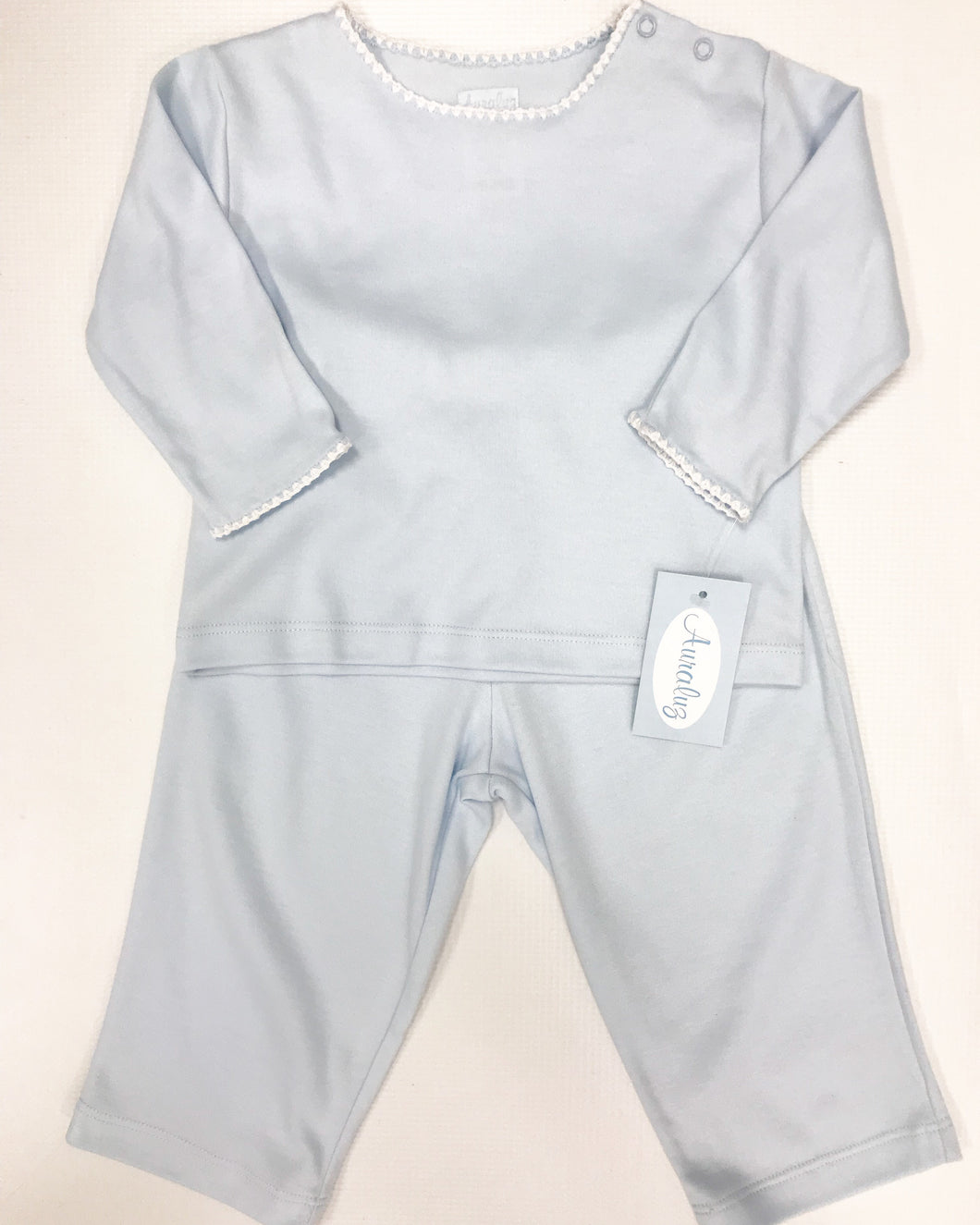 Blue Knit Pant Set