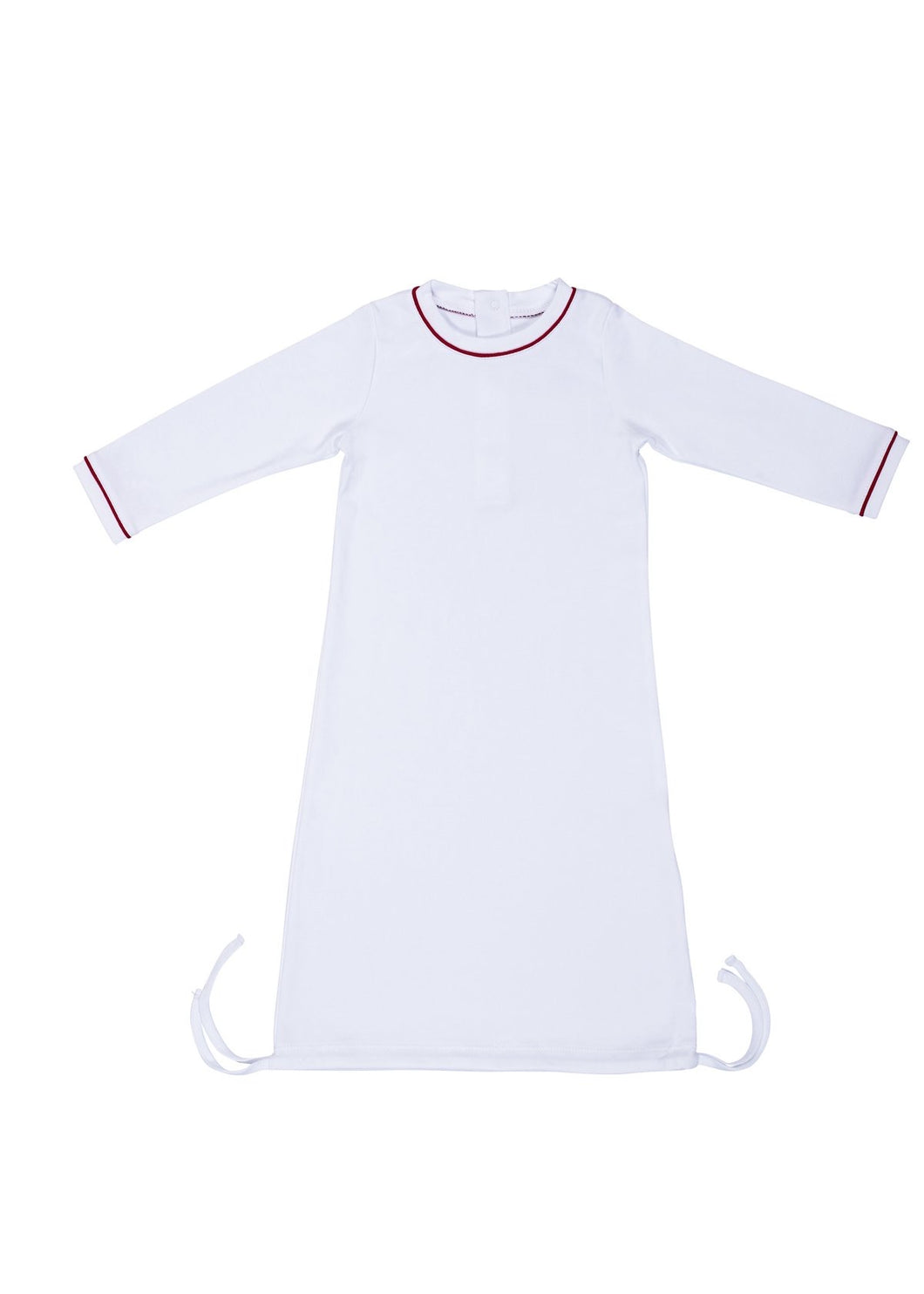 White Boy Daygown w Red Piping