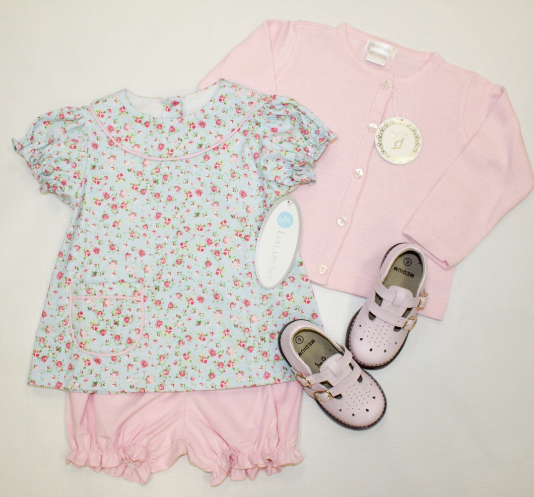 Floral Knit Bloomer Set