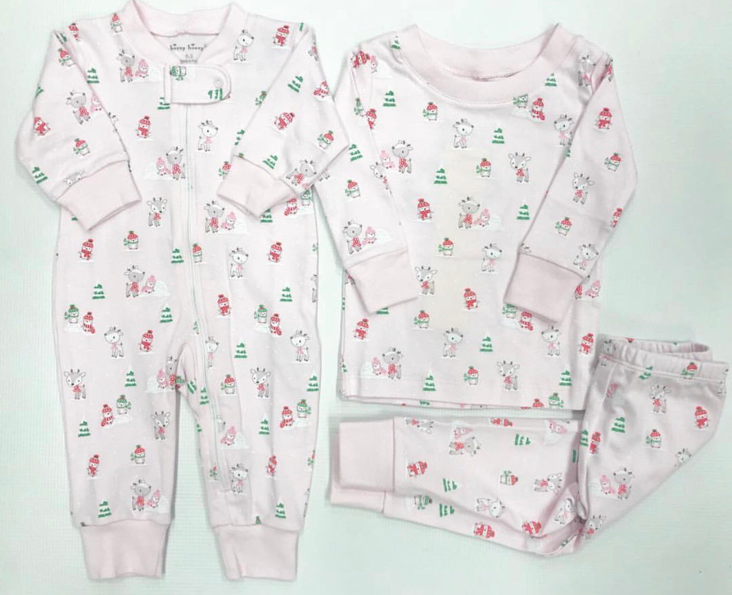 Pink Snow Day Pajama Set