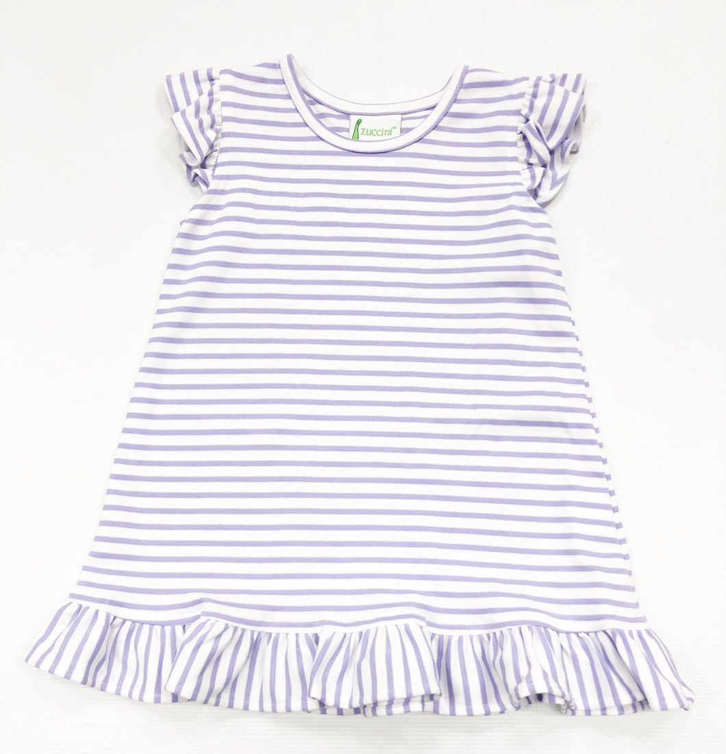 Lavender Stripe Knit Dress