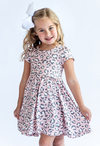 Pink Leopard Hugs Dress