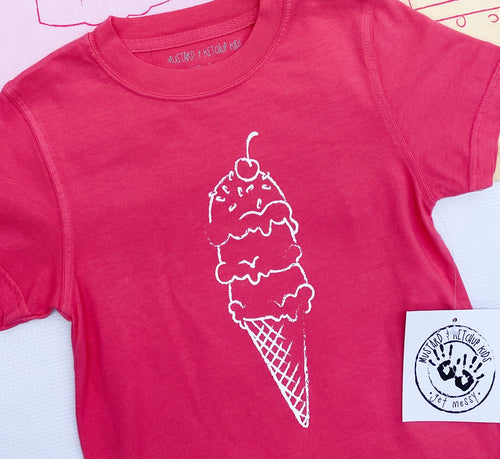 Pink Ice Cream Cone T-Shirt