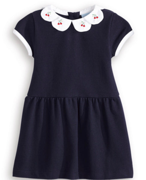 Cadence Dress - Navy with Cherries