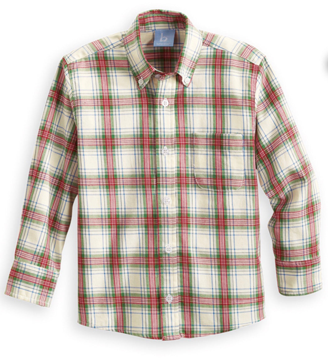 Provence Plaid Button-down Dress Shirt